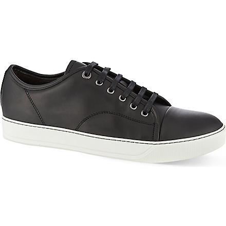 LANVIN Clean toe cap trainers (Black