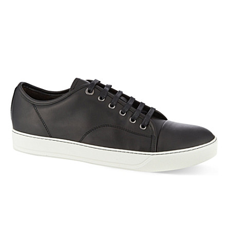 LANVIN Clean toe cap trainers (Black