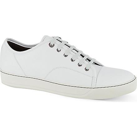 LANVIN Clean toe cap trainers (White