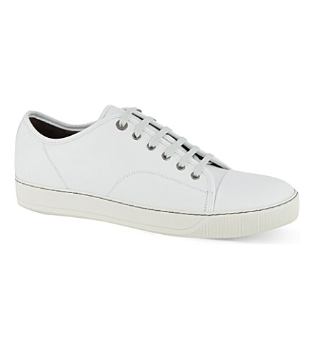LANVIN Clean toe cap trainers (White