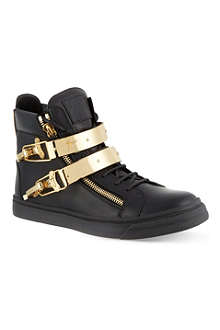 GIUSEPPE ZANOTTI Double bangle hi-top trainers