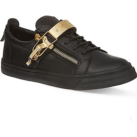 GIUSEPPE ZANOTTI Single-bangle low-top trainers (Black