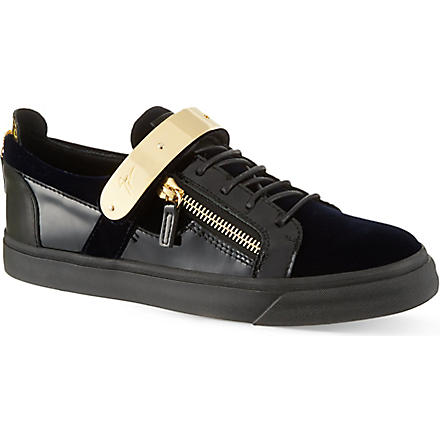 GIUSEPPE ZANOTTI Single bangle low-top trainers (Navy