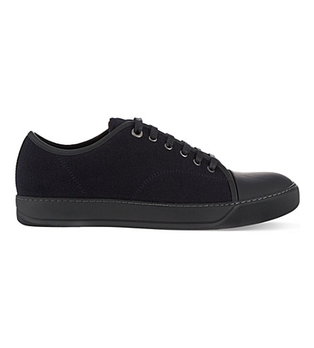 LANVIN Wool toe cap trainers (Navy