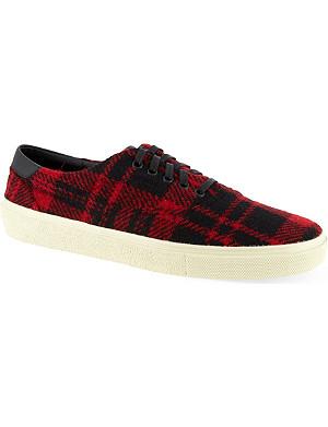 SAINT LAURENT Check lace skate sneakers