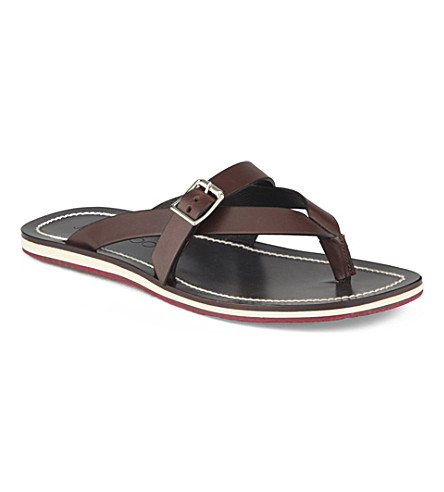 JIMMY CHOO Hedley cross-thong flip-flops (Wine