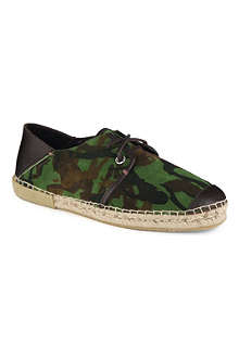 JIMMY CHOO Percy camouflage-detailed espadrilles