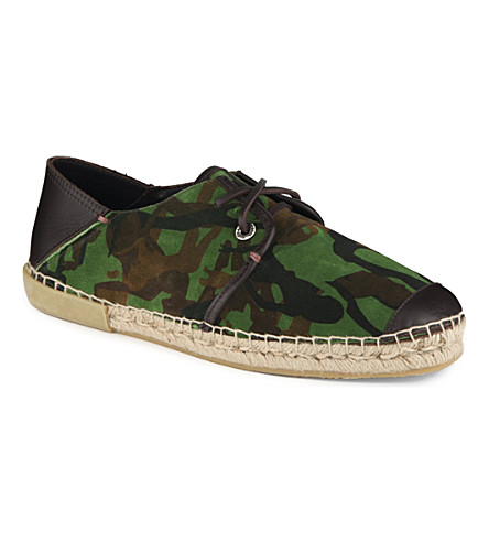 JIMMY CHOO 24/7 Percy camouflage-detailed espadrilles (Green