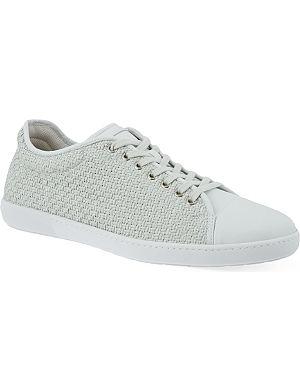 GIORGIO ARMANI Weaved Lo tennis sneakers