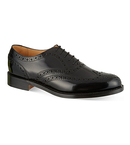 BARKER Padstow high-shine Oxford shoes (Black