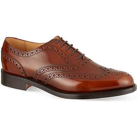 BARKER Padstow high-shine Oxford shoes (Tan