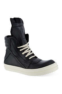 RICK OWENS Self ex geobasket zip-up hi-top sneakers