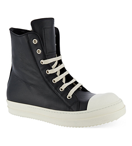 RICK OWENS Zip hi top (Black
