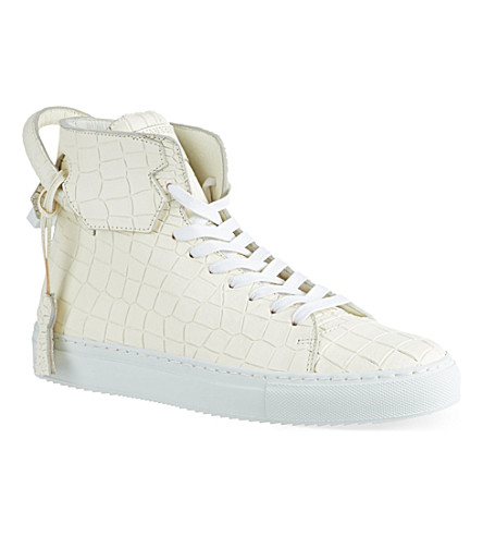 BUSCEMI 125mm En Noir high tops (White