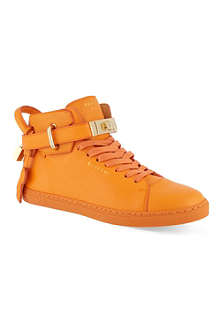 BUSCEMI Gold clasp mid-top sneakers