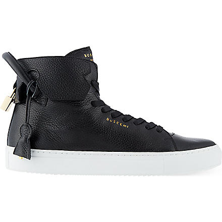 BUSCEMI 125mm handle heels trainers (Blk/white