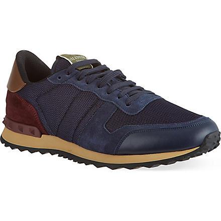 VALENTINO Plain running sneakers (Navy