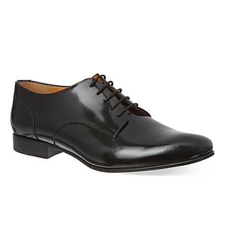 VALENTINO Patent derby shoes (Black