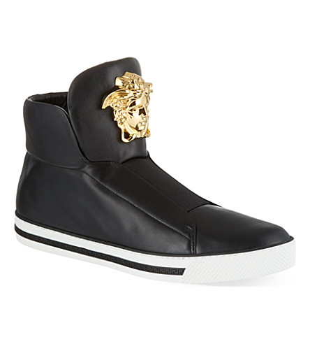 VERSACE Senator high-top trainers (Black
