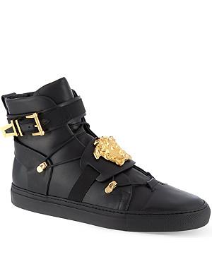 VERSACE Medusa leather hi-top sneakers