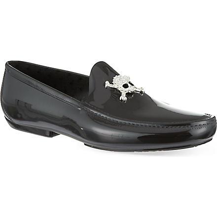 VIVIENNE WESTWOOD Skull-embellished loafers (Black