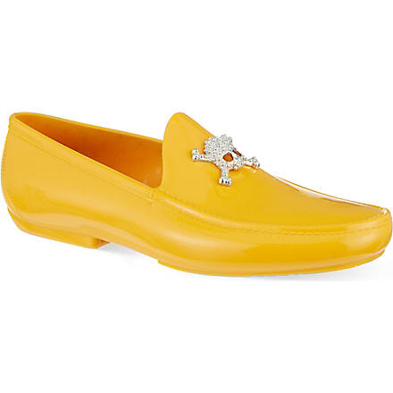 VIVIENNE WESTWOOD Skull PVC loafers (Yellow
