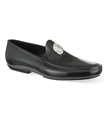 VIVIENNE WESTWOOD Stamp PVC loafers (Black