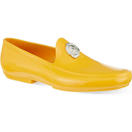 VIVIENNE WESTWOOD Stamp PVC loafers (Yellow
