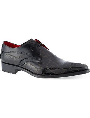 JEFFERY WEST Nicky paisley Derby shoes