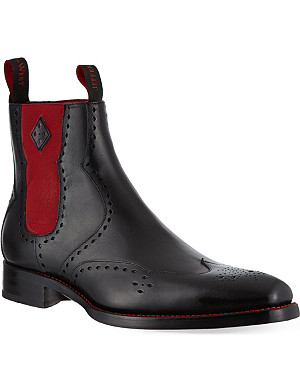 JEFFERY WEST Novikov peforated leather Chelsea boots