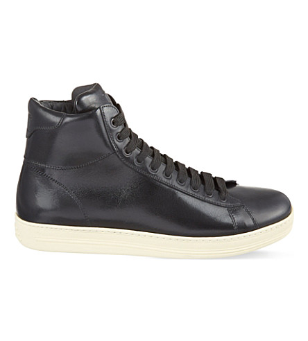 TOM FORD Russel high-top trainers (Black