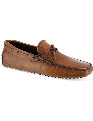 TODS Vintage tie driver shoes