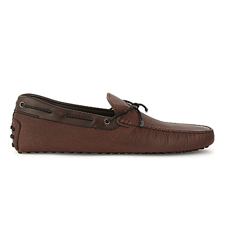 TODS Gommino heaven leather driving shoes (Brown