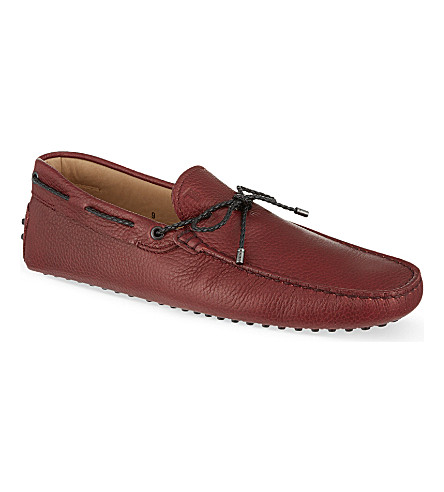 TODS Gommino driving shoes in leather (Red
