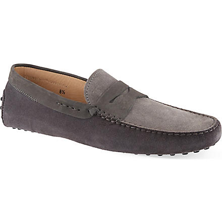 TODS Two-tone Penny driving shoes (Grey