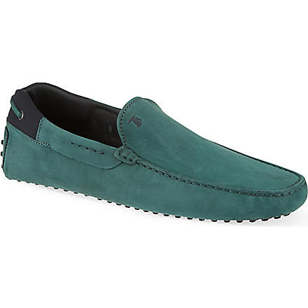 TODS Gommino driving shoes in suede (Green