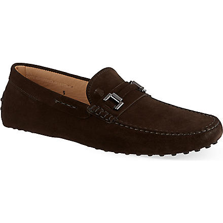 TODS Gommino driving shoes in suede (Brown