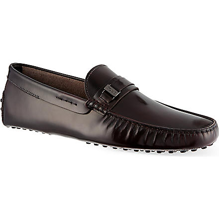 TODS Piast Spatz driving shoes (Wine