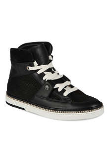 JIMMY CHOO Barlowe python-embossed high-top trainers