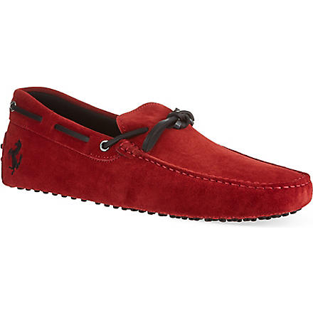 TODS Ferrari tie driver shoes (Red