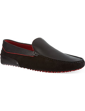 TODS Pipe mix driving loafers