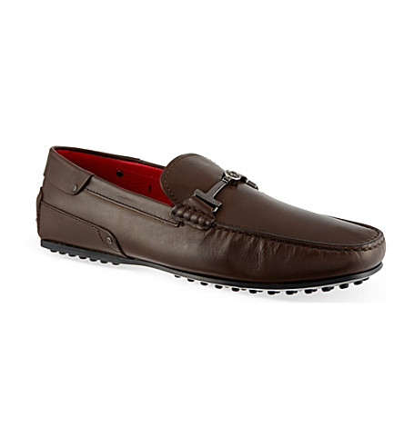 TODS Ferrari TT leather driving shoes (Brown
