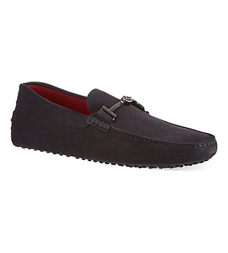 TODS Ferrari TT nubuck driving shoes (Navy