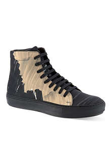 ACNE Adrian camo hi-top trainers