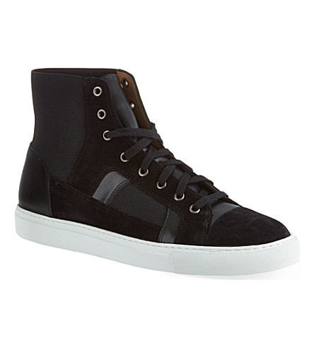 DRIES VAN NOTEN Mix hi-top sneakers (Black