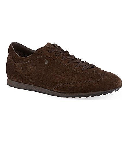 TODS Allacciato suede formal sneakers (Dark+brown