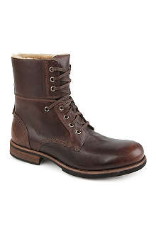 UGG Fur-lined military boots