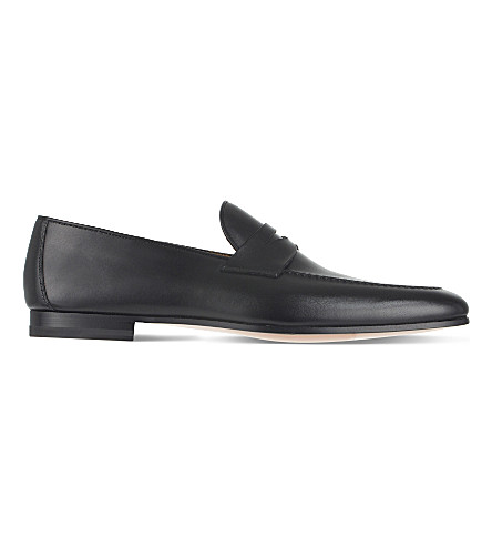 MAGNANNI Roberto leather loafers (Black