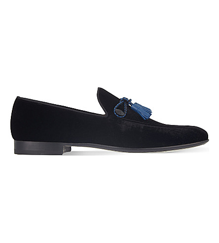 MAGNANNI Velvet tassel loafers (Black