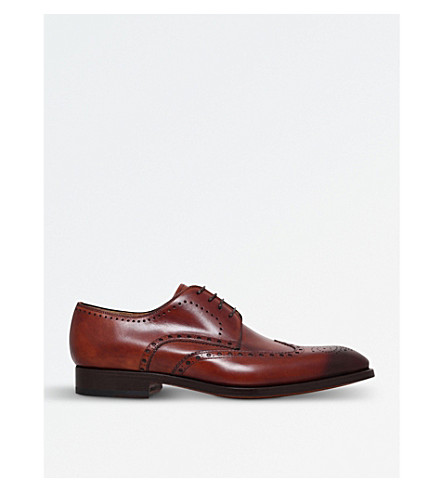 MAGNANNI Almond Derby brogues (Tan